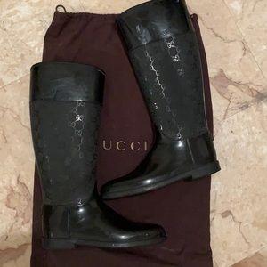 Authentic Gucci - Black Rubber Rainboots